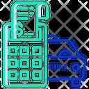 Car Service Bill Taxi Bill Car Service Invoice Icon