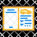 Car Service Book Auto Service Icon