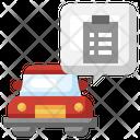 Car Service Paper Icon