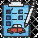 Car Service Report Document Car Icon