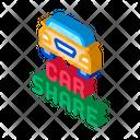 Car Share Sharing Icon