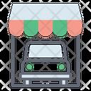 Car Showroom Car Garage Auto Shop Icon