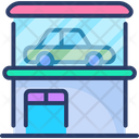 Car Showroom Car Dealership Auto Shop Icon