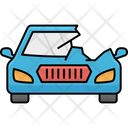 Car Side Wreck Accident Broken Icon