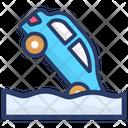 Car Sinking Icon