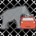 Car Smashing Icon