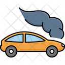 Car Smoke Crash Breakdown Icon