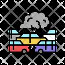 Car Smoke Car Pollution Pollution Icon