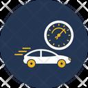 Car Speed Test Automobile Average Icon