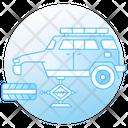 Car Lift Car Service Car Repair Icon