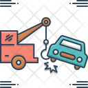 Car Towing Car Towing Tow Accident Breakdown Icon