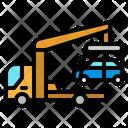 Car Towing Car Tow Crane Icon