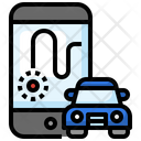 Tracking Car Navigation Icon