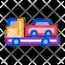 Line Car Truck Icon