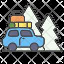 Winter Car Travel Icon