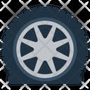 Car Tyre Vehicle Wheel Automobile Accessories Icon