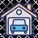 Car Wash Carport Garage Icon