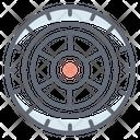 Car Wheel Car Tyre Car Accessory Icon