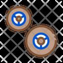Kart Wheels Color Icon