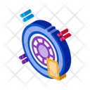 Car Wheel Cleaning Icon