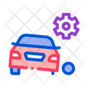 Car Wheel Theft Icon