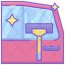 Car Window Cleaning Icon