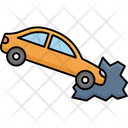 Car With Accident Automobile Car Icon