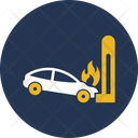 Car Wreck And Flam Icon