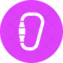 Carabiner Forest Climbing Icon