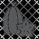 Carambola Vitamin Food Icon