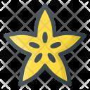 Carambola Friut Star Icon