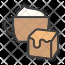 Caramel Cappuccino Coffee Icon