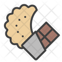 Chocolate Cookie Caramel Icon