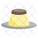 Caramel Custard Pudding Sweet Icon