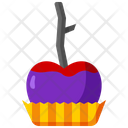 Caramel Apple Caramelized Apple Dessert Icon