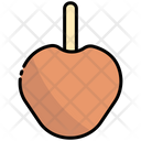 Caramelized Apple Halloween Food Icon