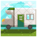 Home Car Caravan Car Icon