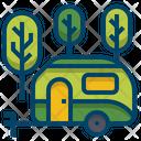 Caravan Camping Trailer Icon