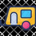 Camping Caravan Solid Icon
