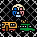 Caravan Trailer Camping Icon