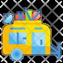 Caravan Vehicle Outdoors Icon