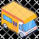 Road Journey Camper Van Motor Home Icon