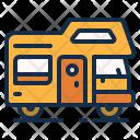 Car Caravan Trailer Icon
