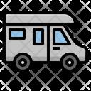 Caravan Truck Camping Icon