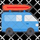 Van Caravan Camper Icon