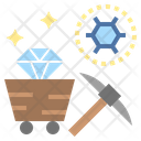 Carbon Mine Diamond Icon