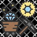 Carbon Mine Diamond Icon