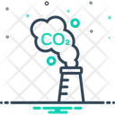 Carbon Emission Factory Icon