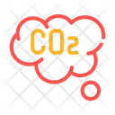 Co Cloud Color Icon
