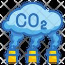 Carbon Dioxide Pollution Co 2 Icon